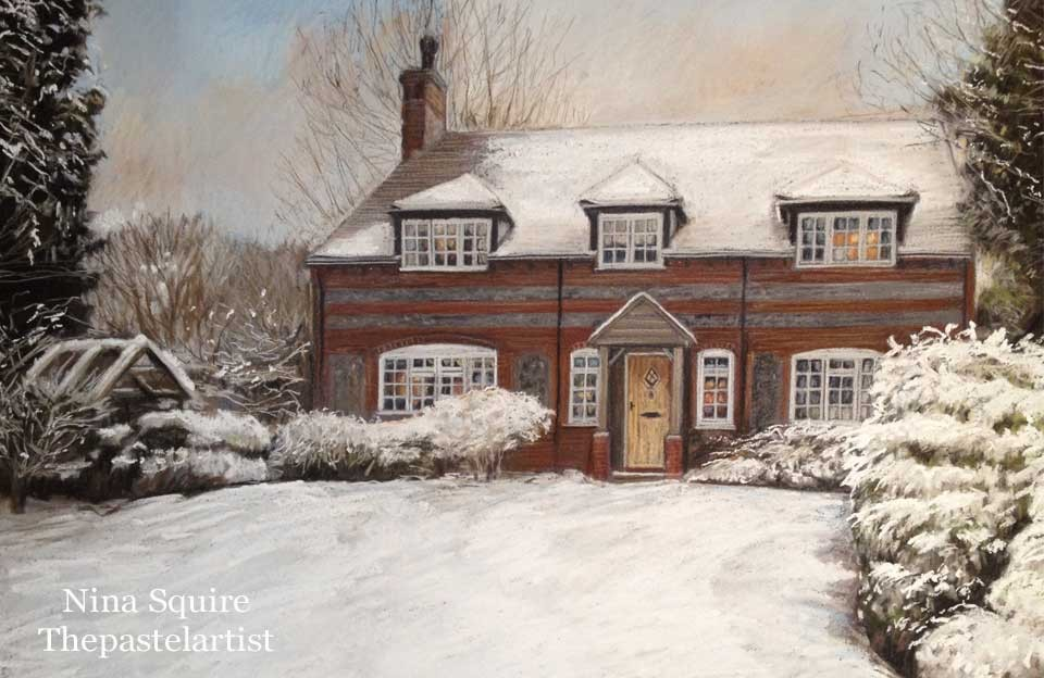 House portraits in pastel
