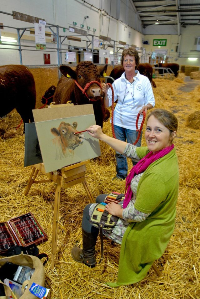 Nina Squire - the pastel artist - artist in residence at Devon County Show