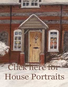 House portraits in pastel, a lovely gift for friends and family