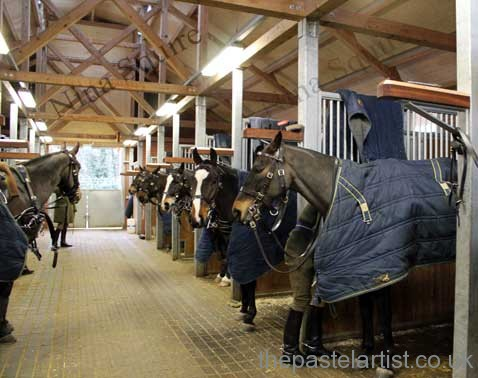 Inside the Woolwich Garrison, just one of the lines The King's Troop Royal Horse Artillery