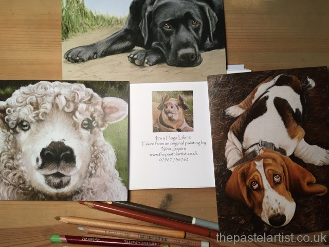 Pet portraits and greetings cards