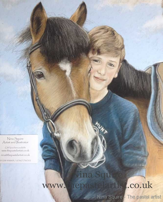 New Forest Pony pastel portrait by Nina Squire