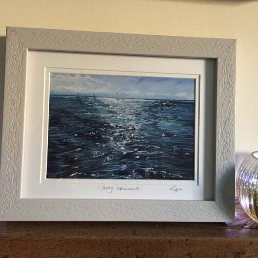 Photo of framed print of seascape